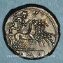 Monnaies République romaine. Monnayage anonyme (vers 225-212 av. J-C). Didrachme-quadrigatus