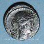 Monnaies République romaine. P. Clodius M. f. Turrinus (vers 42 av. J-C). Denier incus