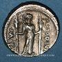 Monnaies République romaine. P. Clodius M. f. Turrinus (vers 42 av. J-C). Denier