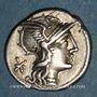 Monnaies République romaine. P. Maenius Antiaticus (vers 132 av. J-C). Denier