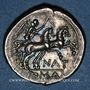 Monnaies République romaine. Pinarius Natta (vers 155 av. J-C). Denier