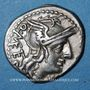 Monnaies République romaine. Q. Caecilius Metellus (vers 130 av. J-C). Denier