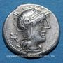 Monnaies République romaine. Q. Philippus (vers 129 av. J-C). Denier