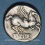 Monnaies République romaine. Q. Titius (vers 90 av. J-C). Denier