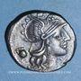 Monnaies République romaine. Sex. Pompeius Fostlus (vers 137 av. J-C). Denier