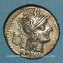 Monnaies République romaine. T. Cloelius (vers 128 av. J-C). Denier