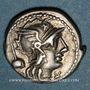 Monnaies République romaine. T. Quinctius Flamininus (vers 126 av. J-C). Denier