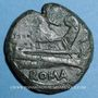 Monnaies République romaine. T. Quinctius Flaminus (126 av. J-C). Semis, Rome