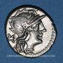 Monnaies République romaine. Ti. Minucius C. f. Augurinus (vers 134 av. J-C). Denier