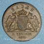 Münzen Bade. Frédéric I, grand duc (1856-1907). 1 Gedenkkreuzer 1871