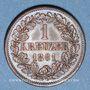 Münzen Bade. Frédéric I, grand duc (1856-1907). 1 kreuzer 1861