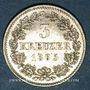 Münzen Bavière. Louis II (1864-1886). 3 kreuzer 1865