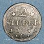 Münzen Clèves. Frédéric II de Brandebourg (1740-1786). 2 stuber 1752C