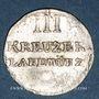 Münzen Löwenstein-Wertheim-Rochefort. Dominique Constantin (1789-1806). 3 kreuzer 1804. Wertheim