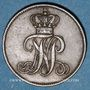 Münzen Oldenbourg. Nicolas Frédéric Pierre (1853-1900). 1/2 grote 1853 B
