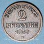 Münzen Oldenbourg. Nicolas Frédéric Pierre (1853-1900). 2 pfennig 1858 B
