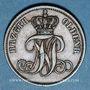 Münzen Oldenbourg. Nicolas Frédéric Pierre (1853-1900). 3 schwaren 1858B