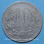 Münzen Algérie, Chambre de Commerce d'Alger, 10 cent 1916 zinc. Faux pour servir