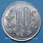 Münzen Algérie, Chambre de Commerce d'Alger, 10 cent 1919 aluminium