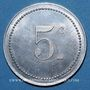 Münzen Algérie, Chambre de Commerce de Bône, 5 cent 1915