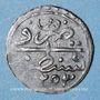 Münzen Algérie. Mahmoud II (1223-1255H = 1808-1839). 1 kharoub 1253H (= 1837). Constantine. Inédit !