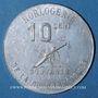 Münzen Algérie. Sidi-Bel-Abbès. Horlogerie Plantier Boissonnet. 10 centimes 1914-1916