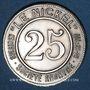 Münzen Nouvelle Calédonie, Société Anonyme Le Nickel, 25 cmes 1881