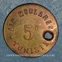 Münzen Tunisie. Kairouan. Paradis et Bianco Aïn Moularès. 5 centimes