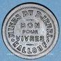 Münzen Tunisie, Mines du Djebel-Hallouf, 5 (cmes). Inédit !