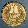Münzen Tunisie. Mohammed al -Amine, bey (1362-76H). 1 franc 1364H = 1945