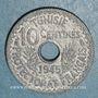 Münzen Tunisie. Mohammed al -Amine, bey (1362-76H). 10 centimes 1945 petit module