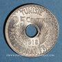 Münzen Tunisie. Mohammed En-Naceur (1324-1340H). 25 centimes 1918. Essai