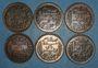 Münzen Tunisie. Mohammed En-Naceur (1324-1340H). 5 centimes 1908-1912-1914-1916-1917 (2X)