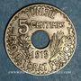 Münzen Tunisie. Mohammed En-Naceur (1324-1340H). 5 centimes 1919