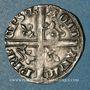 Münzen Aquitaine. Edouard IV le Prince Noir (1362-1372). Hardi. La Rochelle. Variété inédite