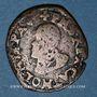Münzen Comté de Bourgogne. Albert et Isabelle (1598-1621). Double denier 1599. Dôle. Au nom de Philippe II