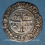 Münzen Comté de Provence. Louis I et Jeanne (1349-1362). Demi-gros ou uthène. Tarascon