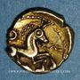 Münzen Bellovaques. Région de Beauvais. 1/4 statère à l'astre, vers 80 - 50 av. J-C