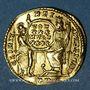 Münzen Constance II (337-361). Solidus. Trèves. R/: Rome et Constantinople