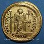 Münzen Empire byzantin. Justin I (518-527). Solidus. Constantinople, 7e officine (519-527)