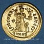 Münzen Empire romain d'Occident. Honorius (393-423). Solidus, Constantinople, 3e officine, 408-420