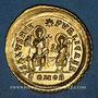 Münzen Empire romain d'Occident. Valentinien III (425-455). Solidus. Constantinople, 2e officine, 426