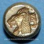 Münzen Ile de Lesbos. Mytilène. Hecté en électrum (= 1/6 statère), 521-478 av. J-C