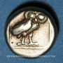 Münzen Lesbos. Mytilène (377-326 av. J-C). Hecté (1/6 de statère d'électrum)