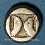 Münzen Lesbos. Mytilène (454-428 avant J-C). Hecté (1/6 de statère d'électrum)