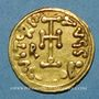 Münzen Lombards. Bénévent. Romuald II (706-731). Trémissis au nom de Justinien