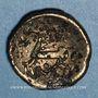 Münzen Médiomatrices. Région de Metz. Statère d'or bas du type de Morville. Vers 60 - 30/25 av. J-C