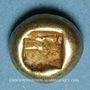 Münzen Royaume de Lydie. Epoque de Alyattes II à Kroisos, 610-546 av. J-C. Hemihecté d'electrum