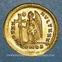 Münzen Théodose II (408-450). Solidus. Constantinople, 9e officine, 423-424
