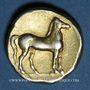 Münzen Zeugitane. Carthage (vers 310-270 av. J-C). Statère d'électrum